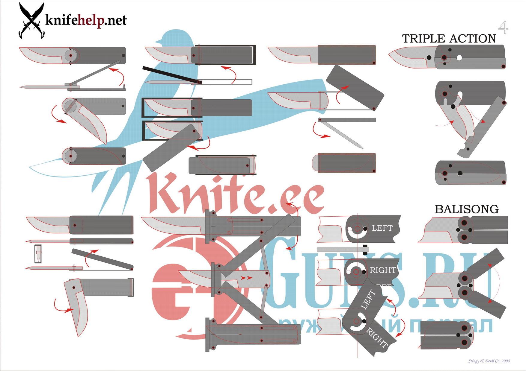 Как сделать складной нож чертежи